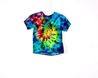 Tie Dye T Shirt 18 Month Baby Infant Tee Crinkle Short Sleeve Premade