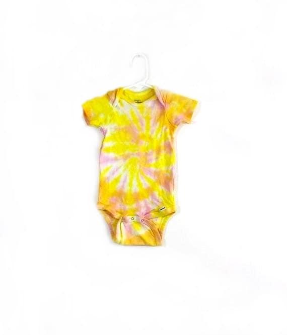 Buy Cool Shirts Tie Dye Swirl Spiral Orange Infant Romper Creeper