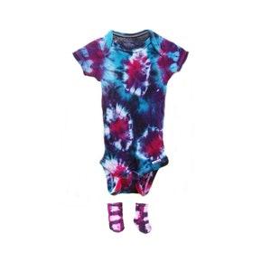 Tie Dye Baby Spiral Onesie Handmade Tye Die Cotton Gerber And Child Of Mine