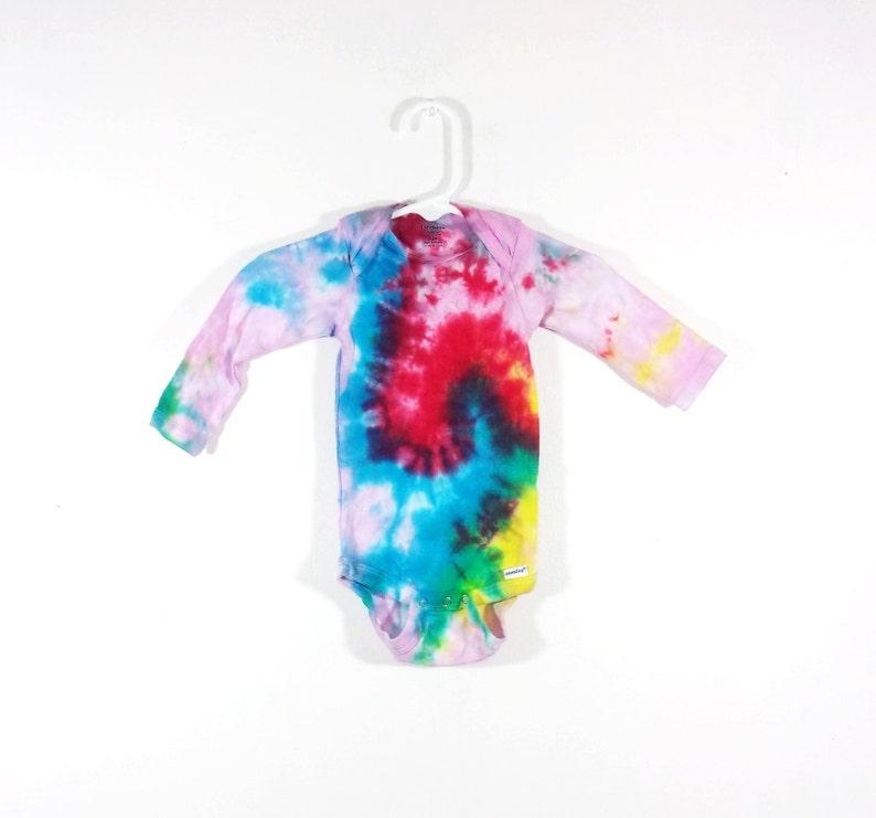 0829007e4b038 Tie Dye Onesie 3-9 Month Gerber Galaxy Swirl Long Sleeve | Etsy
