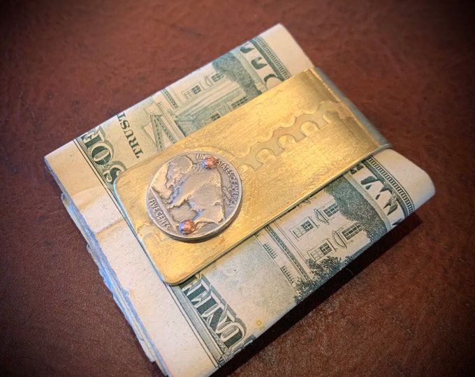 Up cycled Money clip from Vietnam war Artillery shell casings