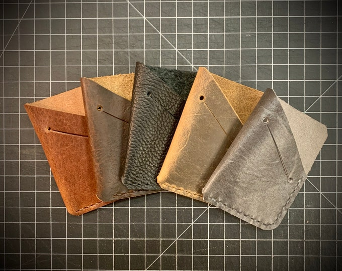 Bison Leather Unisex Single Pocket Wallet With Cash Slot