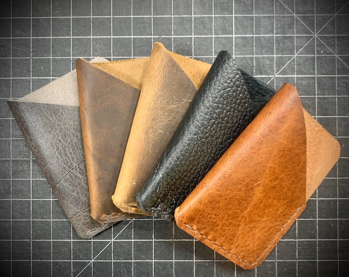 Bison Leather Unisex Single Pocket Wallet