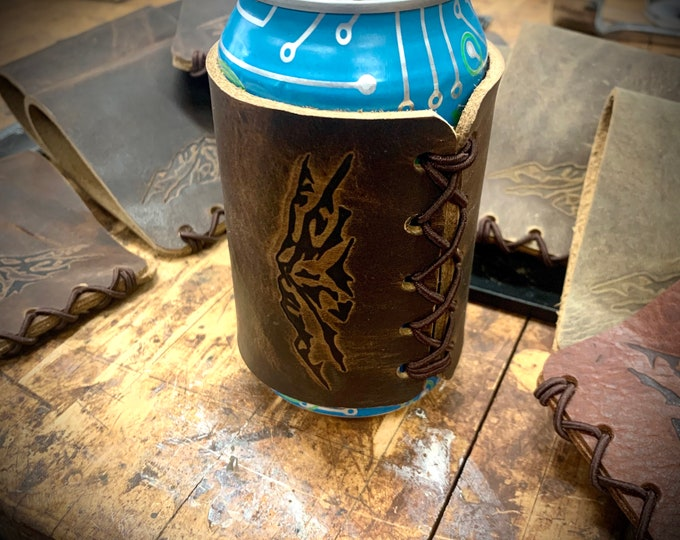 Bison Leather Can Holder