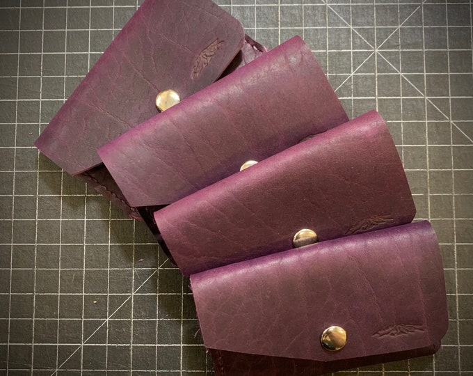 Purple Bison Snap Wallet