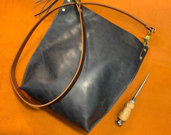 Dusty Blue Bison crossbody bag