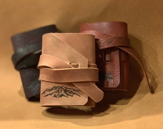 Bison Leather Fly Fishing Wallet With Sheep Shearling