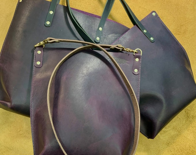 Everyday Lilac Bison leather tote