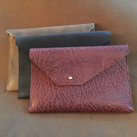 Bison Leather Pouch/Clutch