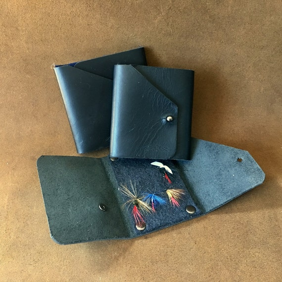 Fly Fishing Wallet with 100% Wool Felt