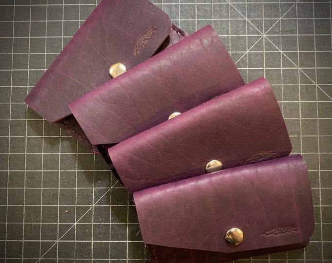 Purple Bison Snap Wallet