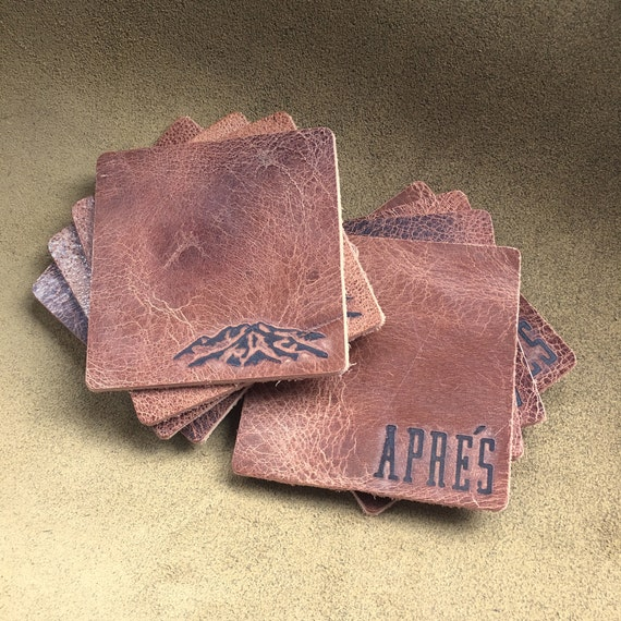 Bison Leather Coaster