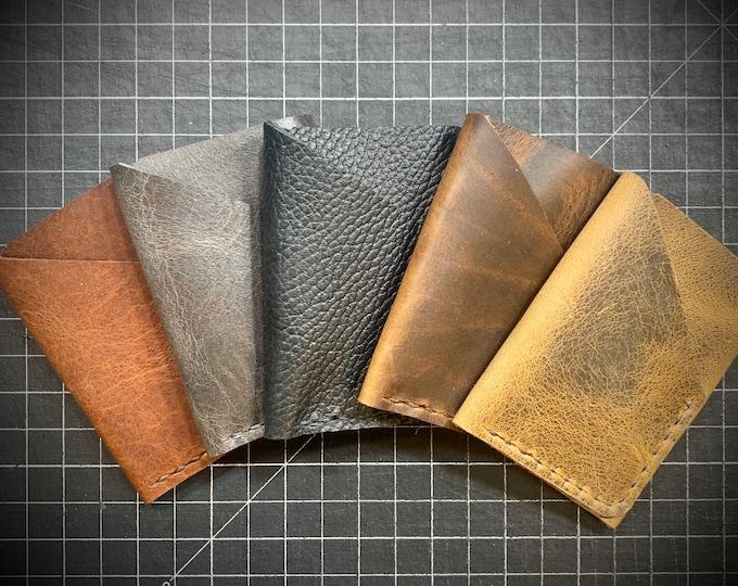Bison Leather Double Pocket Unisex Card Holder Wallet