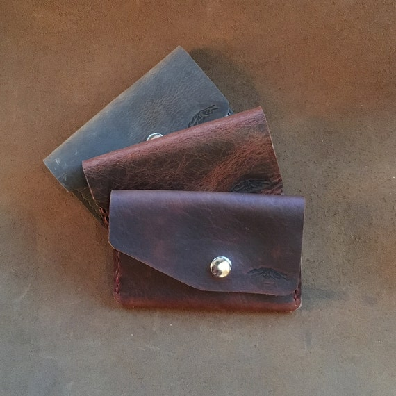 Bison Leather Unisex Snap Wallet