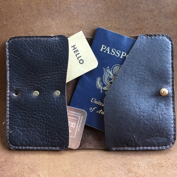Bison Leather Passport Holder