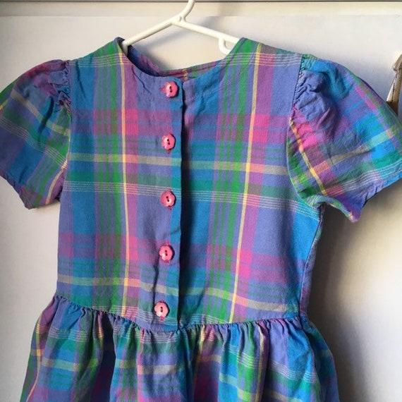 Vintage Toddler Dress Carter's Carter Rainbow Blu… - image 3