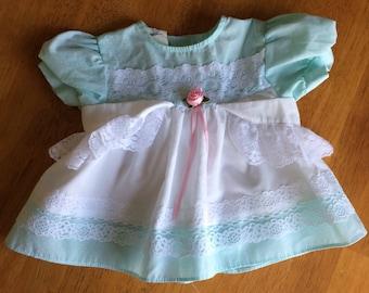 Blue Baby Dress - Vintage Baby Dress