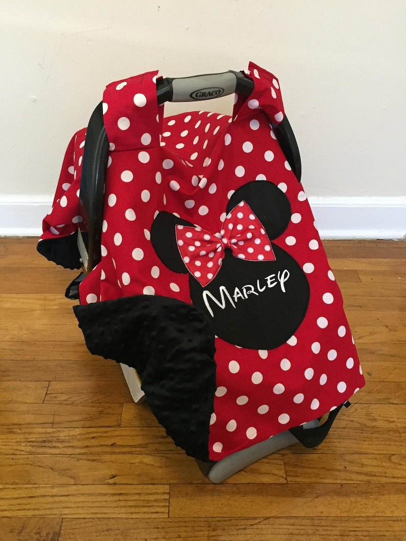 86c53f72c Minnie Mouse Inspired Car seat Canopy car seat cover carseat | Etsy