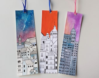Paper bookmarks, Custom bookmarks, Gift for Readers, Book lover gift, Nerdy gift, Gift for readers, Travel bookmarks,Bookish gift