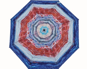 The Waterhole Umbrella a Unique Textile Design - Perfect Australian Gift