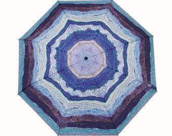 Ocean Waves Umbrella a Unique Textile Design - Perfect Australian Gift