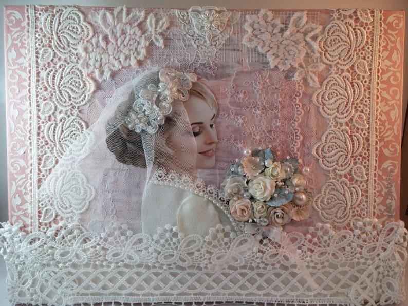 The original picture in the technique of mixed media  Bride