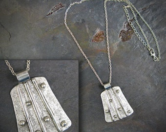 Endless - Textured Sterling Silver necklace