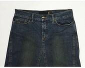 Just Cavalli skirt tube jeans used denim skirt vintage retro blue T3148