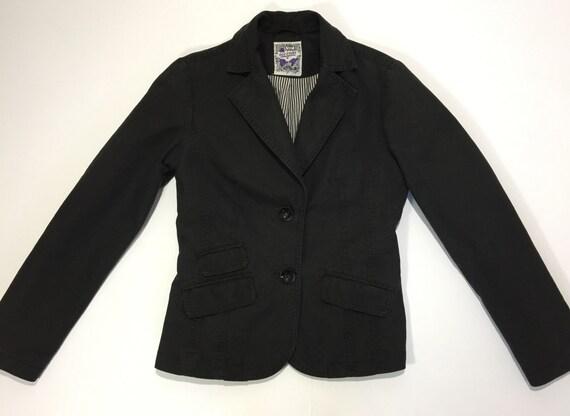 more photos b37e2 f7d3d Old story jacket giacca giacchetta donna ragazza nera nero usata retro  elegante hot disco cena S 40 42 usato T314