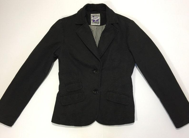 more photos fd84d 34694 Old story jacket giacca giacchetta donna ragazza nera nero usata retro  elegante hot disco cena S 40 42 usato T314