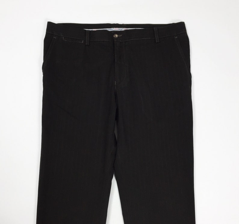 Desiree pantalone a riga marrone uomo usato gamba dritta W40 tg 54 cotone T4729
