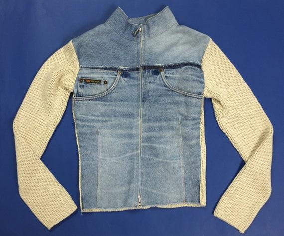 misto Etsy lana tuta lana jeans donna jeans giacchetta Jacket felpa 1qwRvdOgOn