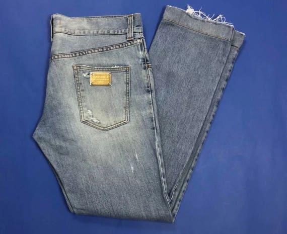 Dolce Gabbana jeans uomo usati slim strappi destroyed  534d5129b30