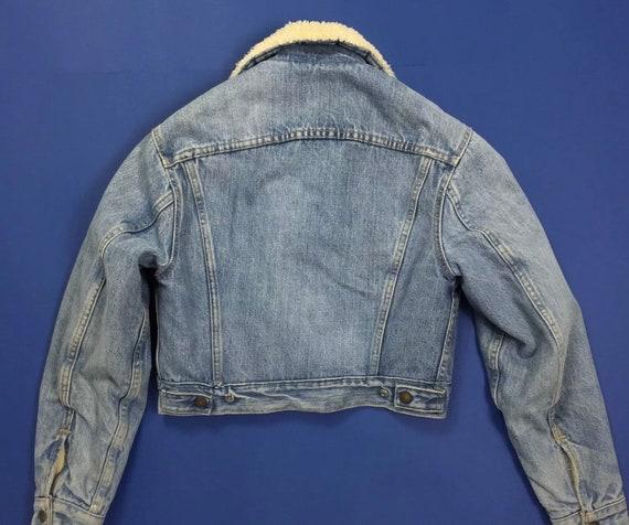 quality design 4a42c 23bb0 Levis sherpa giacca jeans jacket vintage imbottito blu giubbino boyfriend  denim luxury invernale T4297