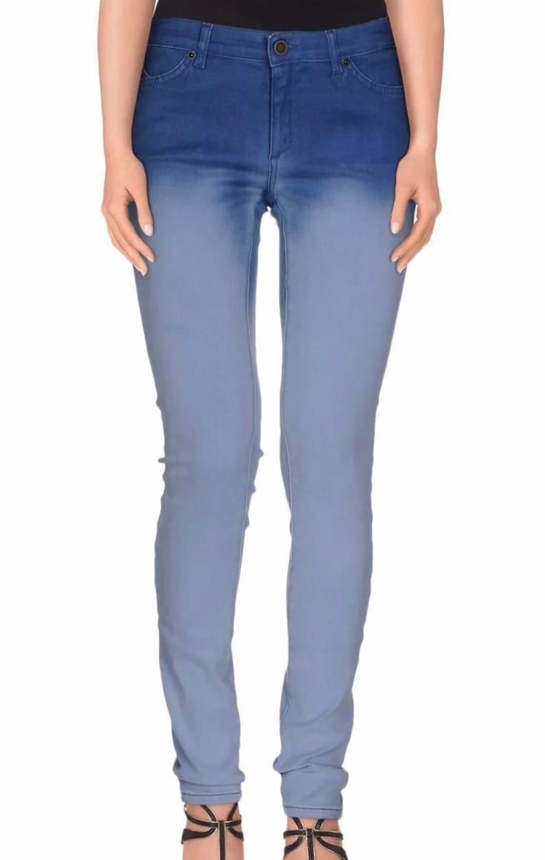 390b01140c Superfine jeans donna nuovo doppio colore blu skinny stretch w27 tg 41 T3930