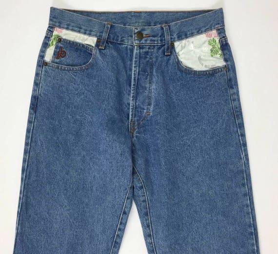 Roccobarocco jeans W30 TgIT44 vintage uomo blu gamba dritta  f8c5e6c9f82