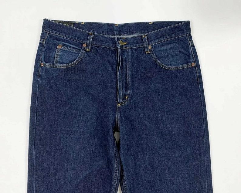 Lee Chicago jeans uomo usato W38 Tg52 denim blu straight boyfriend T6421