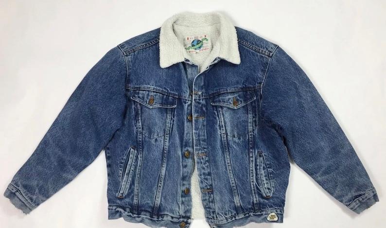 factory price 8ba61 9980b Tom cat beracci giubbotto sherpa giacca jeans L giubbino imbottito usato  T3852