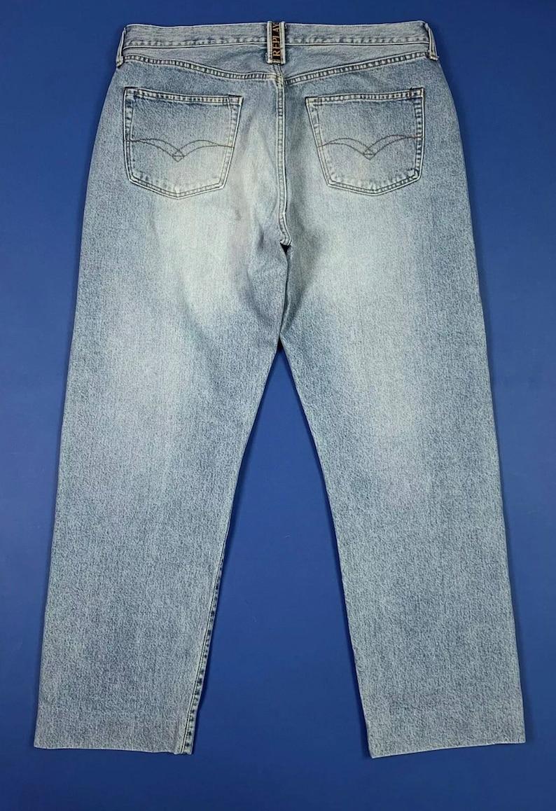 Replay jeans uomo usato regular vintage W40 Tg54 denim blue boyfriend T5661