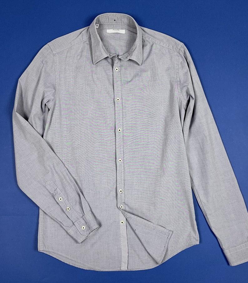 Men/'s Aglini shirt slim shirt used S 39 top luxury long sleeve T5463
