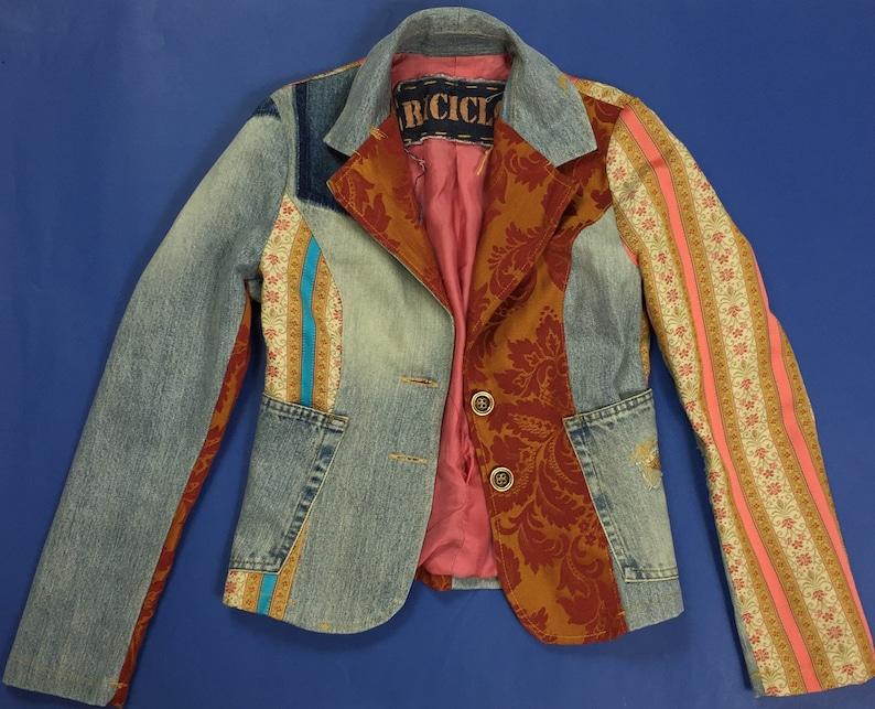 sconto prodotto caldo prezzo ufficiale Riciclo giacca jeans donna jacket sexy disco size 40 blu | Etsy