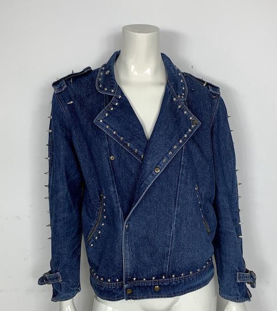 belle scarpe migliore qualità per vendita all'ingrosso Chiodo jacket jeans usato M borchie uomo donna coni metal | Etsy