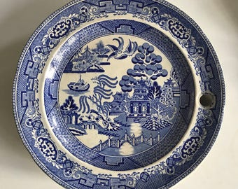 Willow Pattern Baby Warming Plate