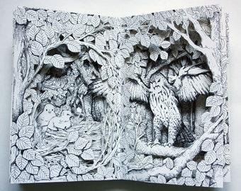 Buzzard Nest Altered Book