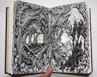 Woman of the Sacred Wood Altered Book