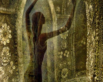 Dancer in the Grotto - Greetings Card