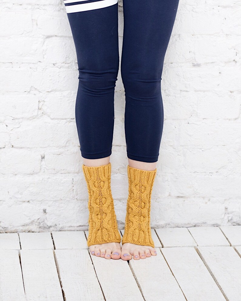 5bbe7bd465e59 Mustard toeless socks Dance socks Flip flop socks Merino wool