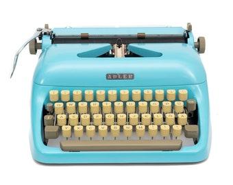 ADLER TYPEWRITER Blue Working Typewriter