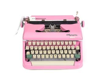 OLYMPIA TYPEWRITER Pink Typewriter Working