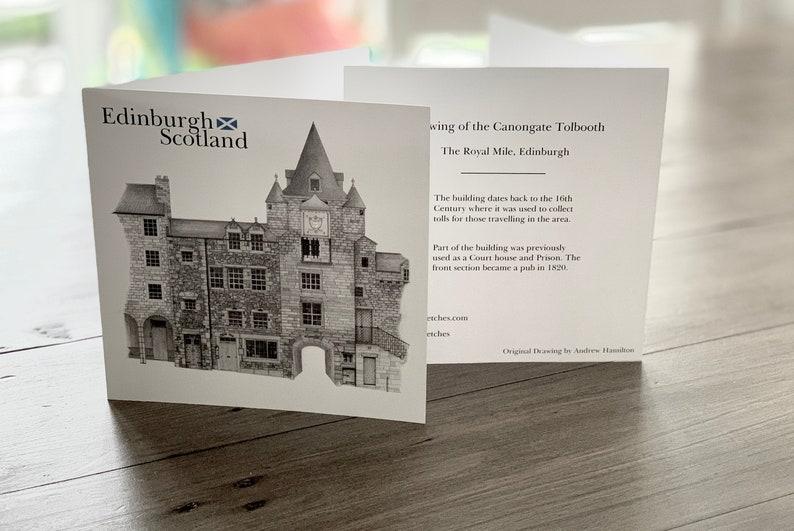 Tolbooth The Royal Mile Edinburgh  Folded Card image 0